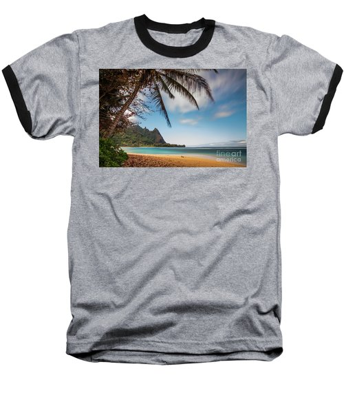 Bali Hai Tunnels Beach Haena Kauai Hawaii Baseball T-Shirt