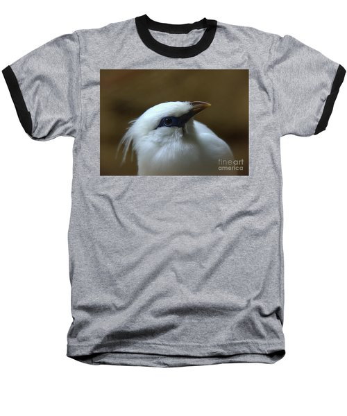 Bali Mynah Baseball T-Shirt by Lisa L Silva