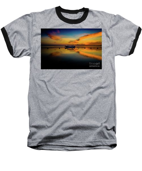 Bali Sunrise 3 Baseball T-Shirt