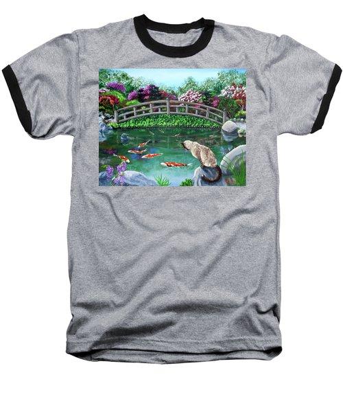 Balinese Cat At Hakone Baseball T-Shirt by Laura Iverson