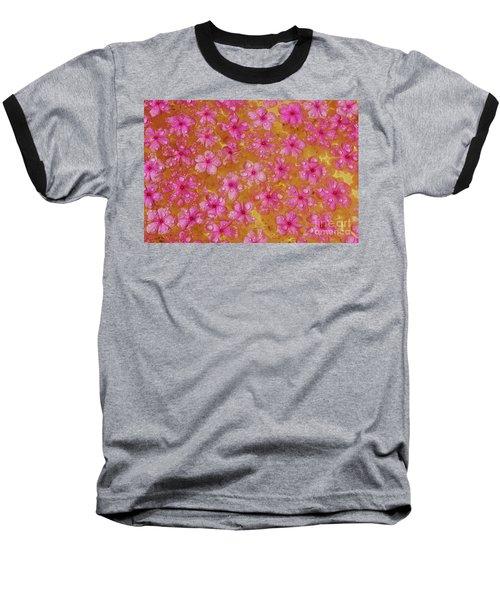 Balinese Flowers Baseball T-Shirt by Cassandra Buckley