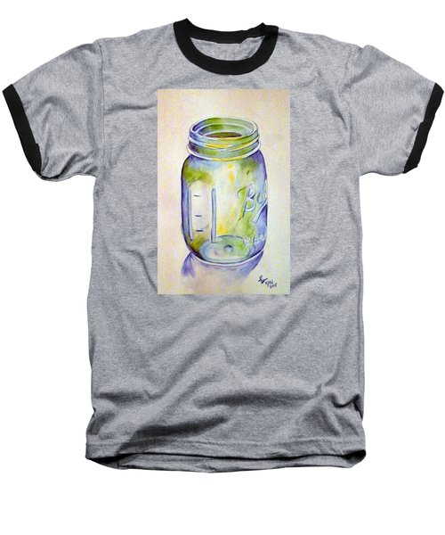 Ball Mason Jar Baseball T-Shirt by Loretta Nash