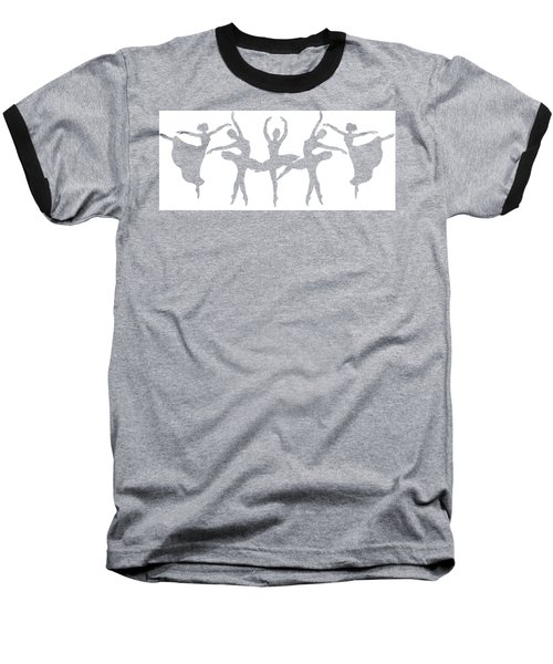 Ballerinas Dancing Silhouettes Baseball T-Shirt