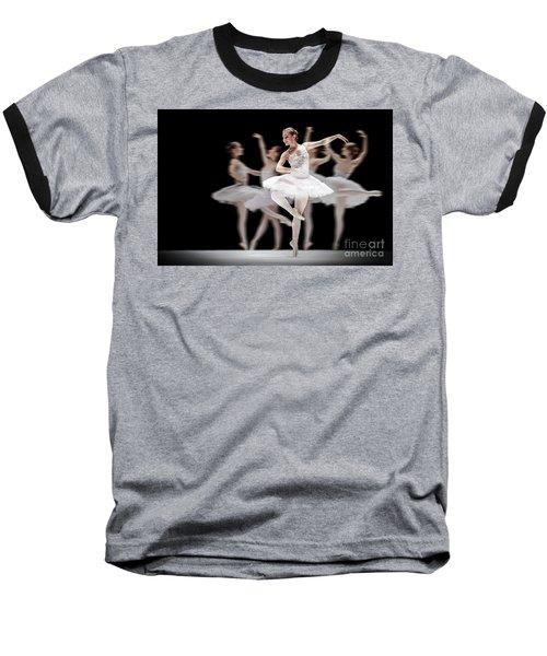Baseball T-Shirt featuring the photograph Ballet Dancer Dance Photography Long Exposure by Dimitar Hristov