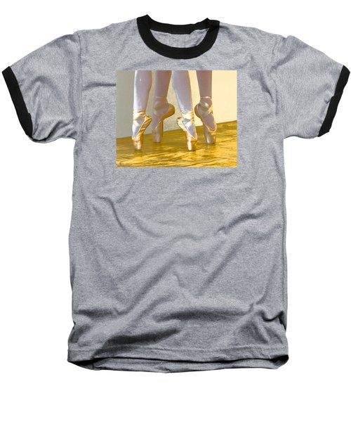 Ballet Second Position In Gold Baseball T-Shirt