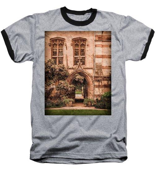 Oxford, England - Balliol Gate Baseball T-Shirt