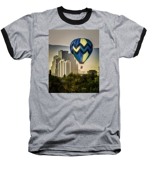 Balloon Over Reno Baseball T-Shirt by Janis Knight