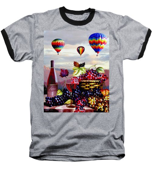 Balloon Ride At Dawn Baseball T-Shirt by Ron Chambers