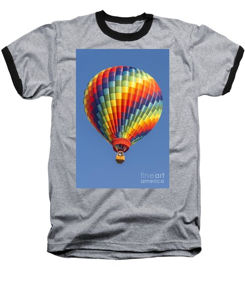 Ballooning In Color Baseball T-Shirt by Anthony Sacco