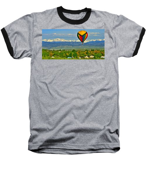 Ballooning Over The Rockies Baseball T-Shirt