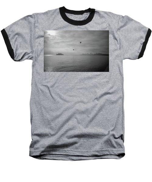 Baseball T-Shirt featuring the photograph Balloons Over San Francisco Bay by Frank DiMarco
