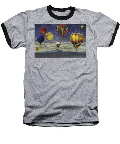 Balloons Over Sister Mountains Baseball T-Shirt