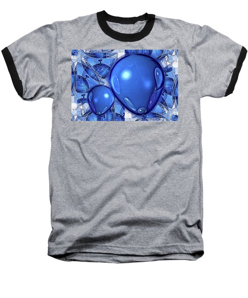 Baseball T-Shirt featuring the digital art Balloons by Ron Bissett