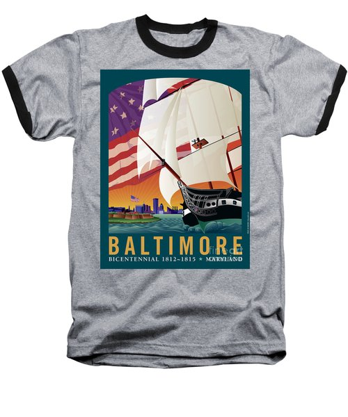 Baltimore - By The Dawns Early Light Baseball T-Shirt