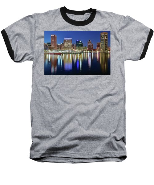 Baltimore Blue Hour Baseball T-Shirt by Frozen in Time Fine Art Photography