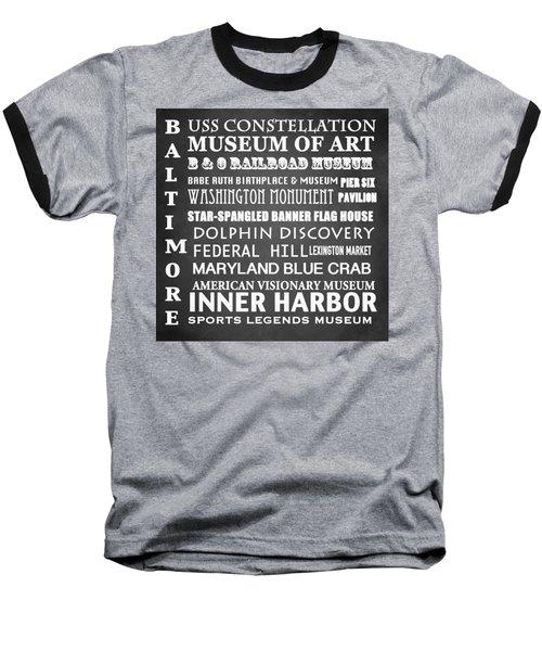 Baltimore Famous Landmarks Baseball T-Shirt