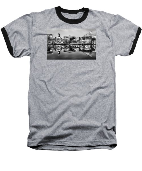 Baltimore In Black And White Baseball T-Shirt