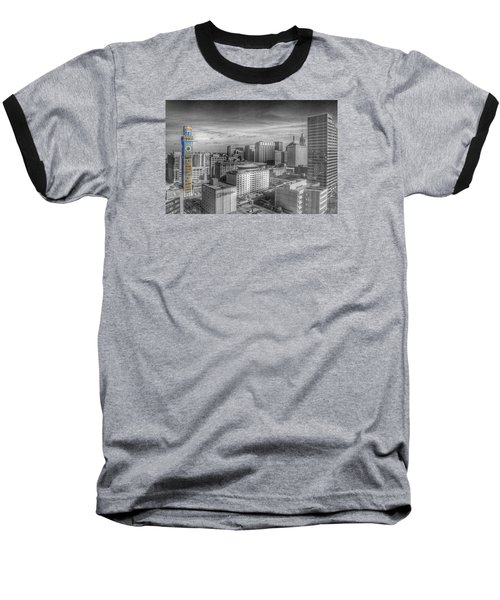 Baltimore Landscape - Bromo Seltzer Arts Tower Baseball T-Shirt