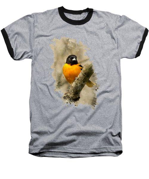 Baltimore Oriole Watercolor Art Baseball T-Shirt