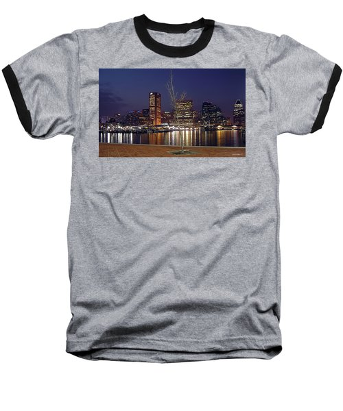 Baseball T-Shirt featuring the photograph Baltimore Reflections by Brian Wallace