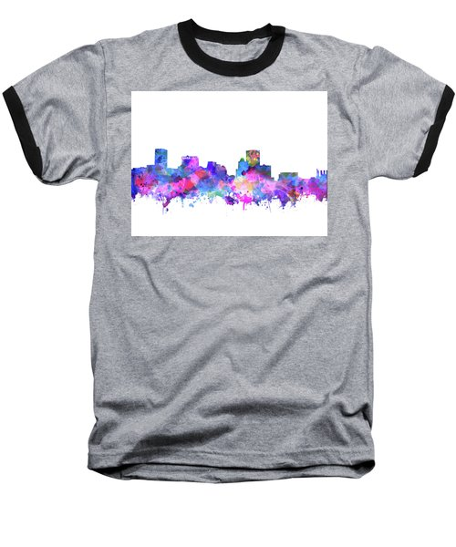 Baseball T-Shirt featuring the painting Baltimore Skyline Watercolor 4 by Bekim Art