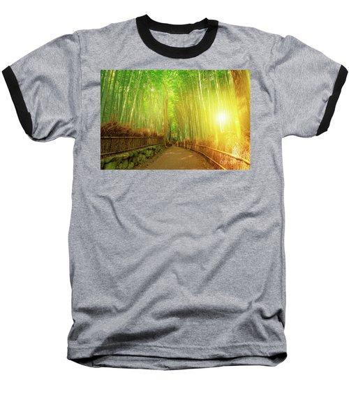 Bamboo Grove Arashiyama Kyoto Baseball T-Shirt