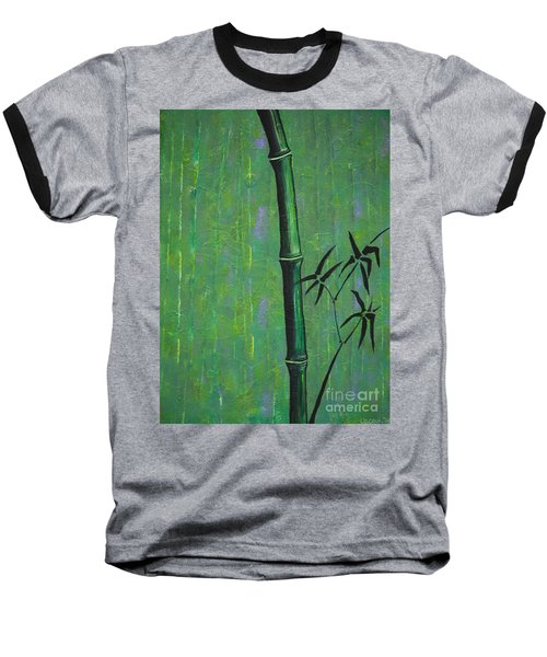 Baseball T-Shirt featuring the painting Bamboo by Jacqueline Athmann