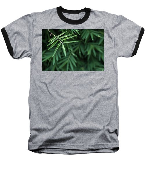 Bamboo Leaves Background Baseball T-Shirt