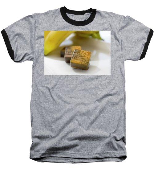 Banana Chocolate Baseball T-Shirt by Sabine Edrissi