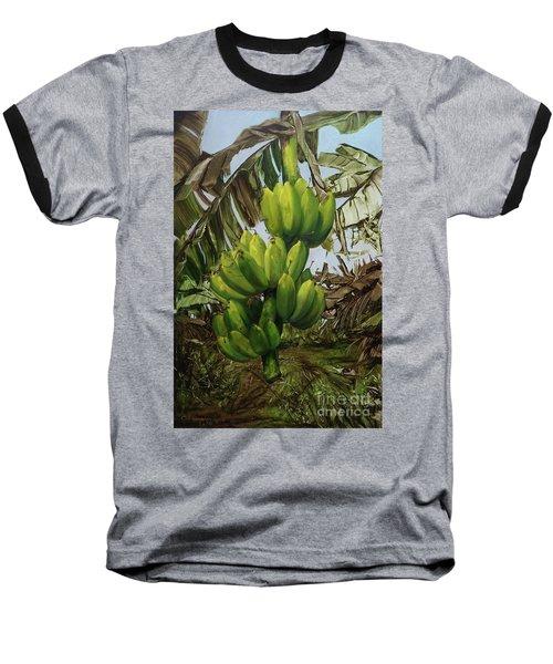 Banana Tree Baseball T-Shirt by Chonkhet Phanwichien