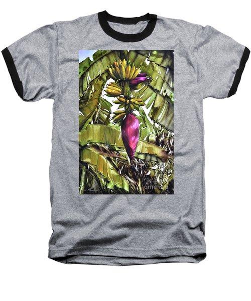 Banana Tree No.2 Baseball T-Shirt by Chonkhet Phanwichien
