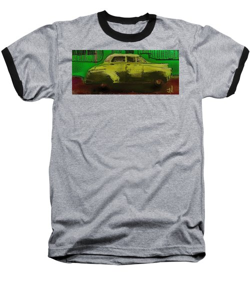 Baseball T-Shirt featuring the painting Banana Yellow by Jim Vance