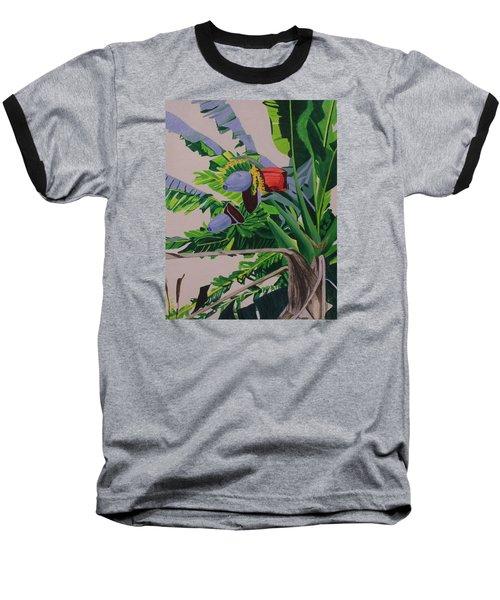 Bananas Baseball T-Shirt by Hilda and Jose Garrancho