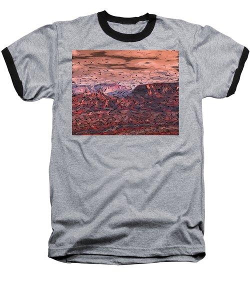 Banded Canyon Abstract Baseball T-Shirt