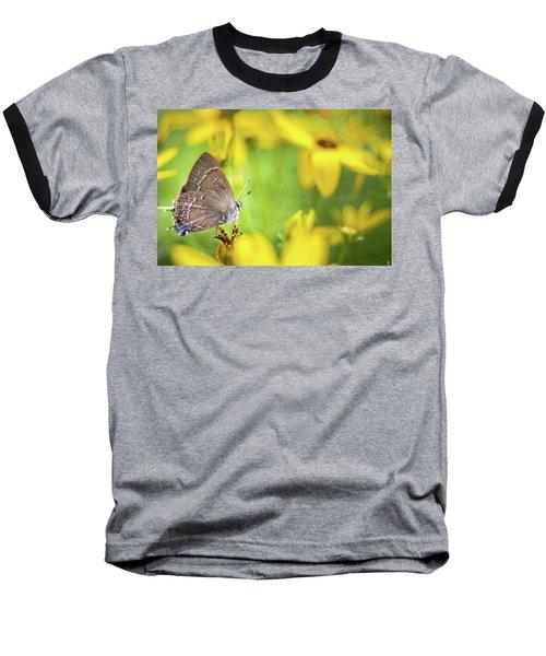 Banded Hairstreak On Coreopsis Baseball T-Shirt