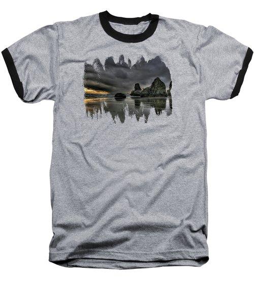 Bandon Beach Storm Baseball T-Shirt by Thom Zehrfeld