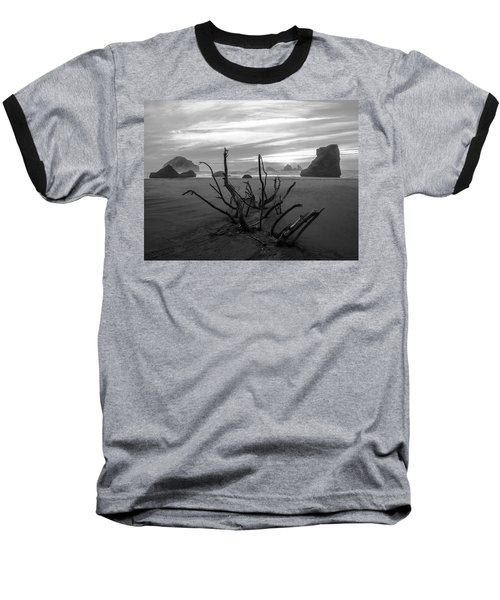 Bandon Beach Tree Baseball T-Shirt