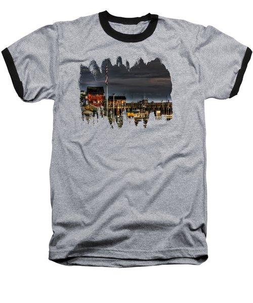 Baseball T-Shirt featuring the photograph Bandon Boat Basin At Dawn by Thom Zehrfeld