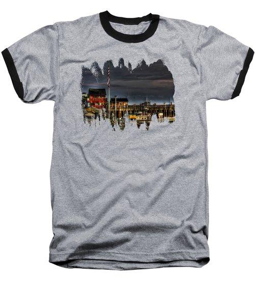 Bandon Boat Basin At Dawn Baseball T-Shirt