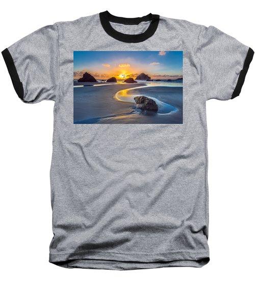 Bandon Face Rock Baseball T-Shirt