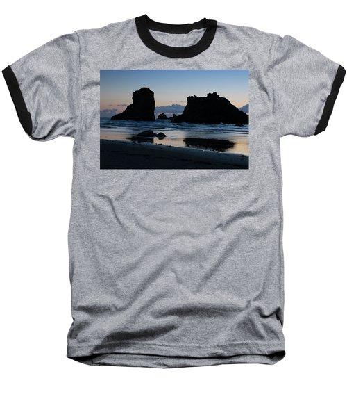 Bandon Oregon Sea Stacks Baseball T-Shirt