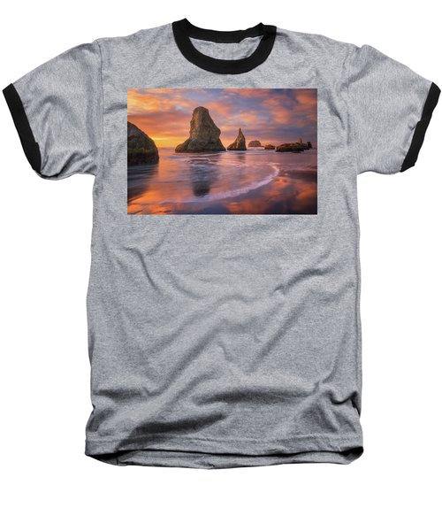 Baseball T-Shirt featuring the photograph Bandon's New Years Eve Light Show by Darren White