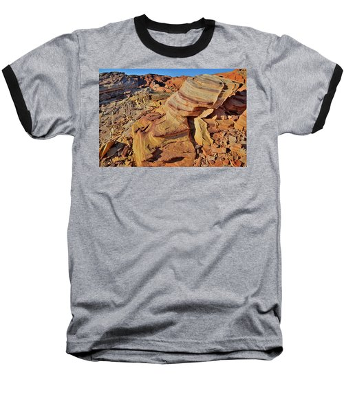 Bands Of Colorful Sandstone In Valley Of Fire Baseball T-Shirt