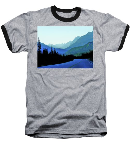 Banff Jasper Blue Baseball T-Shirt