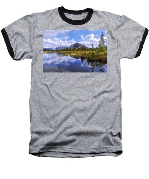 Baseball T-Shirt featuring the photograph Banff Reflection by Chad Dutson