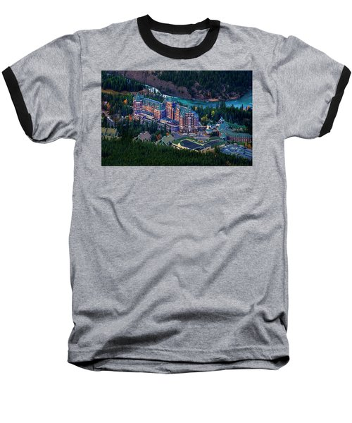 Baseball T-Shirt featuring the photograph Banff Springs Hotel by John Poon
