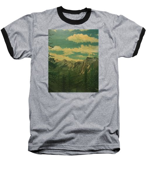 Baseball T-Shirt featuring the painting Banff by Terry Frederick