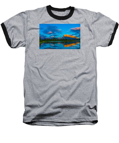 Banff Vermillion Lakes Baseball T-Shirt