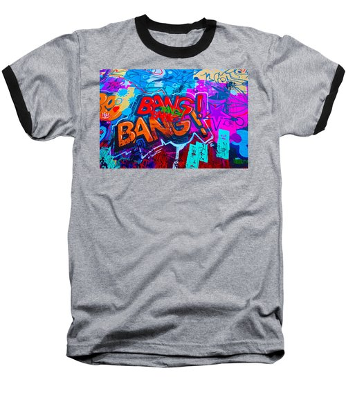 Bang Graffiti Nyc 2014 Baseball T-Shirt by Joan Reese