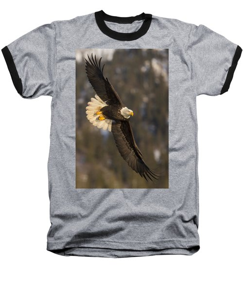 Banking Bald Eagle Baseball T-Shirt